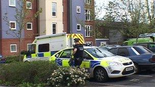 Police outside incident in Eastleigh