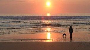 Filey Bay beach