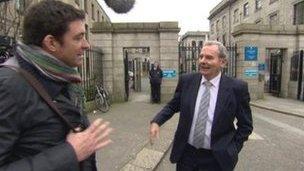 Jim Fitzpatrick questions Sean Quinn in Dublin