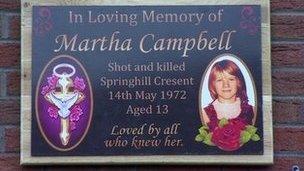 Martha Campbell plaque
