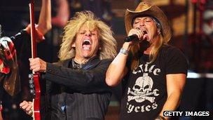 Bret Michaels and CC DeVille at the 2009 Tony Awards