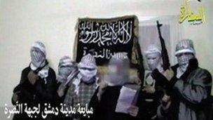 Screengrab of online video posted by al-Nusra Front