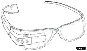Google patents augmented reality Project Glass design