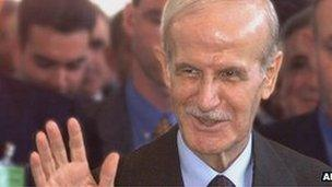 A photograph of Hafez Al Assad, father of President Bashar al Assad of Syria