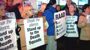 Protest against RAAD