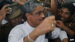 Sarath Fonseka leaving hospital on Monday