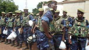 Burkina Faso soldiers in Guinea-Bissau