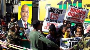ANC supporters outside court