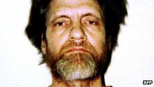Kaczynski in a prison photo 1996
