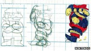 Early Mario designs