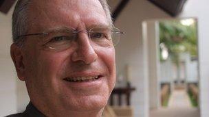 Arthur Holliger, the General Manager of Hotel de la Paix in Siem Reap