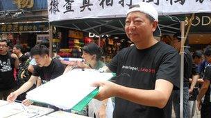 Lee Cheuk-yan in Hong Kong