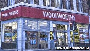 Siop Woolworth, Bae Colwyn, yn 2008