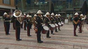 The band of Her Majesty's Royal Marines in Exeter