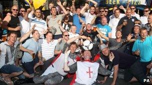 Fans in Kiev