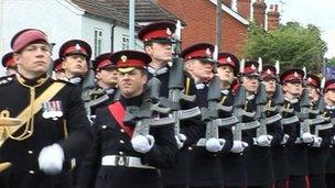 Sandhurst parade