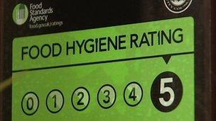 Food hygiene rating sticker