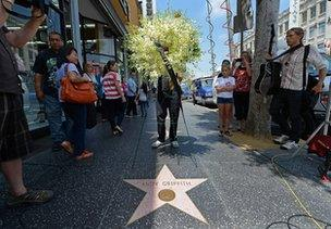 Andy Griffith's star on Hollywood Walk of Fame