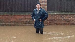 Man in Ockbrook flood