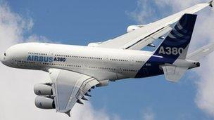 The A380 double-decker jet is the firm's flagship plane