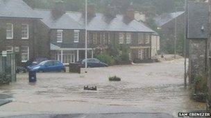 Flooding in Talybont