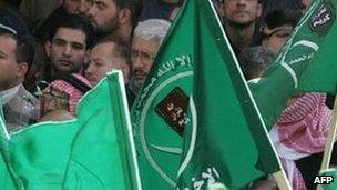 Muslim Brotherhood supporters in Amman. File photo