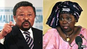Current AU commission chairman Jean Ping of Gabon (l) and his opponent in elections to the post, Nkosazana Dlamini-Zuma of South Africa (r) (combined file photo).