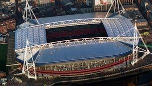 The Millennium Stadium hosts the first action of the London 2012 Olympic Games