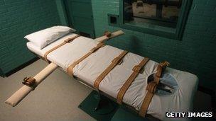 Death chamber in Huntsville, Texas file photo
