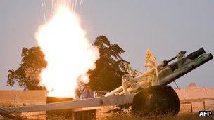 Igniting the Ramadan cannon