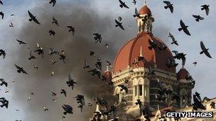 Taj Mahal Hotel on fire, Mumbai 2008
