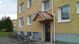 Mr Nazarov's home in Ostersund
