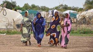 Malian refugees in refugee camp north of Ouagadougou. 26 July 2012