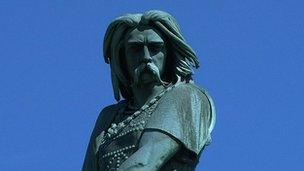Statue of Gaulish leader Vercingetorix at Alise-Sainte-Reine in Burgundy, France