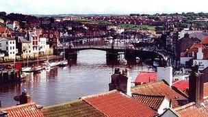 Whitby and swing bridge