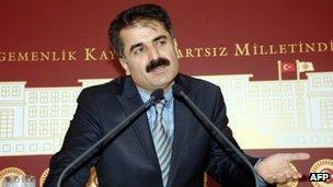 Huseyin Aygun speaking in Ankara in December 2011