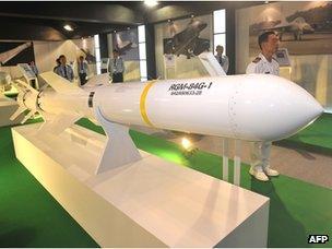 US Harpoon cruise missile