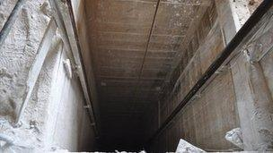 A tunnel in Rafah, southern Gaza
