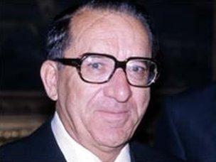 Dom Mintoff, former prime minister of Malta
