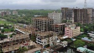 Construction activities all around Cox's Bazar