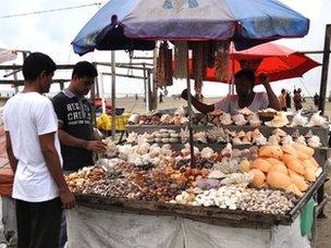 A souvenir shop on Cox's Bazar Beach