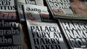Selection of UK newspaper front pages (23/08/2012)