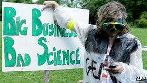 GM protestor