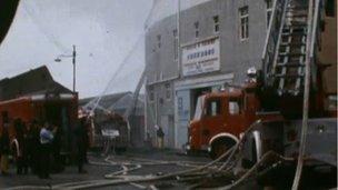 Picture of the 1972 Kilbirnie Street fire