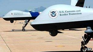 US Customs and Border Patrol drones