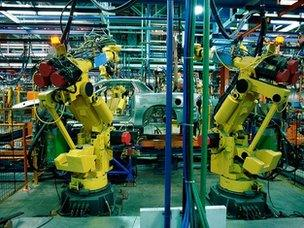 Robots in factory