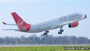 Virgin Atlantic airliner
