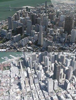 Apple Flyover and Google Earth 3D images