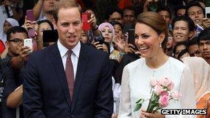 Prince William and the Duchess of Cambridge in Malaysia