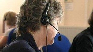 generic call centre worker